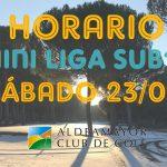 HORARIO MINI LIGA INVIERNO SUB18_3ªPRUEBA